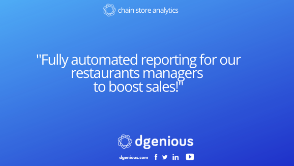 """Fully automated reporting for our restaurants managers to boost sales!"""